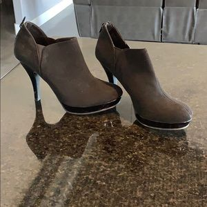 Unlisted suede Black bootie heels